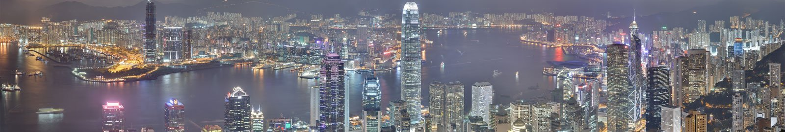 Hong Kong Island at Night from the Peak