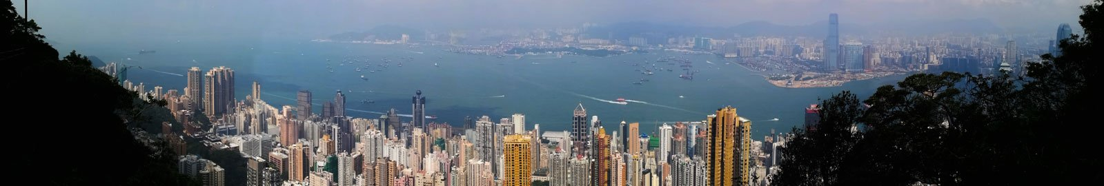 Hong Kong Island at Day with View towards Tsing Yi