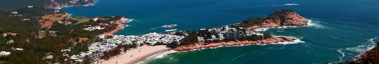 Shek O Beach from Above